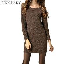 Осень зима женские платья новая мода о-образным вырезом с длинным рукавом bodycon шерстяные трикотажные dress ladies dress толстый теплый шерстяной dress