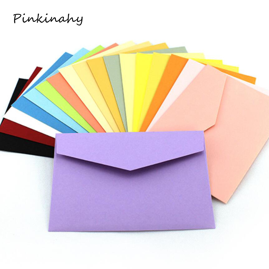 50pcs  lot candy  kraft paper 10 color blank envelopes