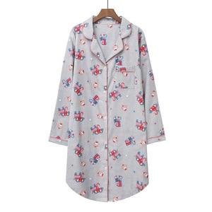 Image 5 - Daeyard 100% כותנה כתונת לילה נשים אביב כותונת ארוכת חמוד Cartoon לילה שמלה בתוספת גודל הלבשת רך מזדמן בגדי בית