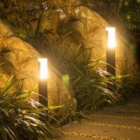 Thrisdar Acrylic Waterproof LED Garden Lawn Lamp Outdoor LED Landscape Pathway Pillar Light Courtyard villa lawn bollard Light