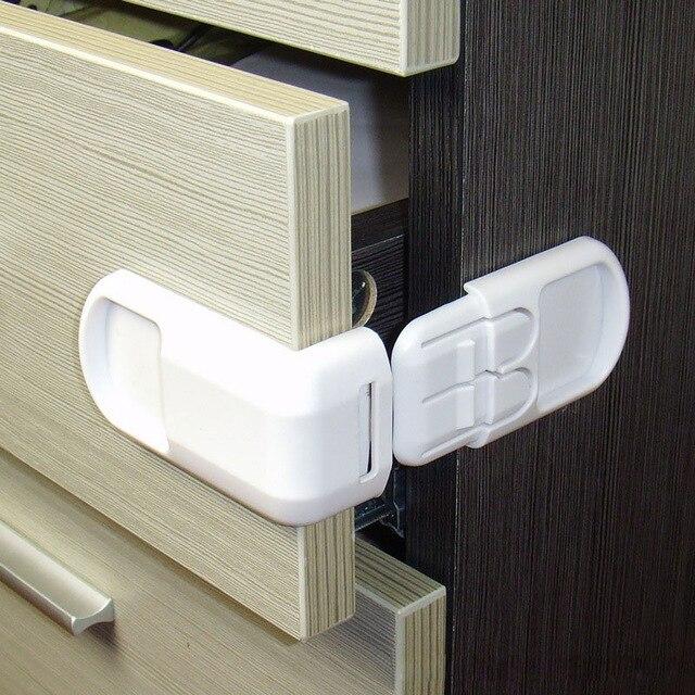20pcs/lot Child Lock Baby Drawer Safety Lock Convenient Functional Kids Door Fridge Safety Lock Toilet Closet Plastic Lock