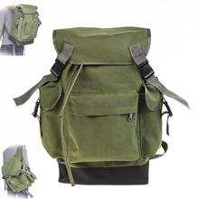 70L Large Capacity Multifunctional Army Green Canvas Carp Fishing Bags Tackle Backpack