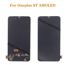 "6.41"" AMOLED original LCD for Oneplus 6T LCD display  touch screen replacement kit display 2340 * 1080 glass screen"