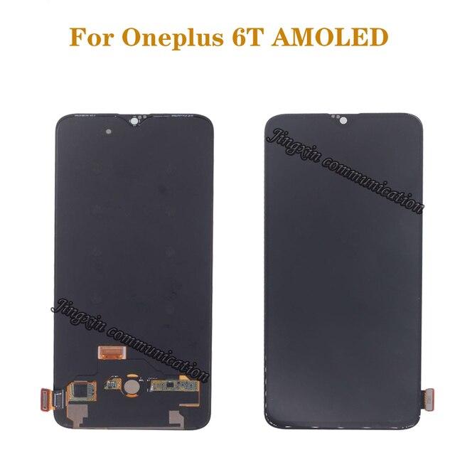 """6.41 """"AMOLED original LCD pour Oneplus 6T LCD affichage écran tactile kit de remplacement affichage 2340*1080 écran en verre"""