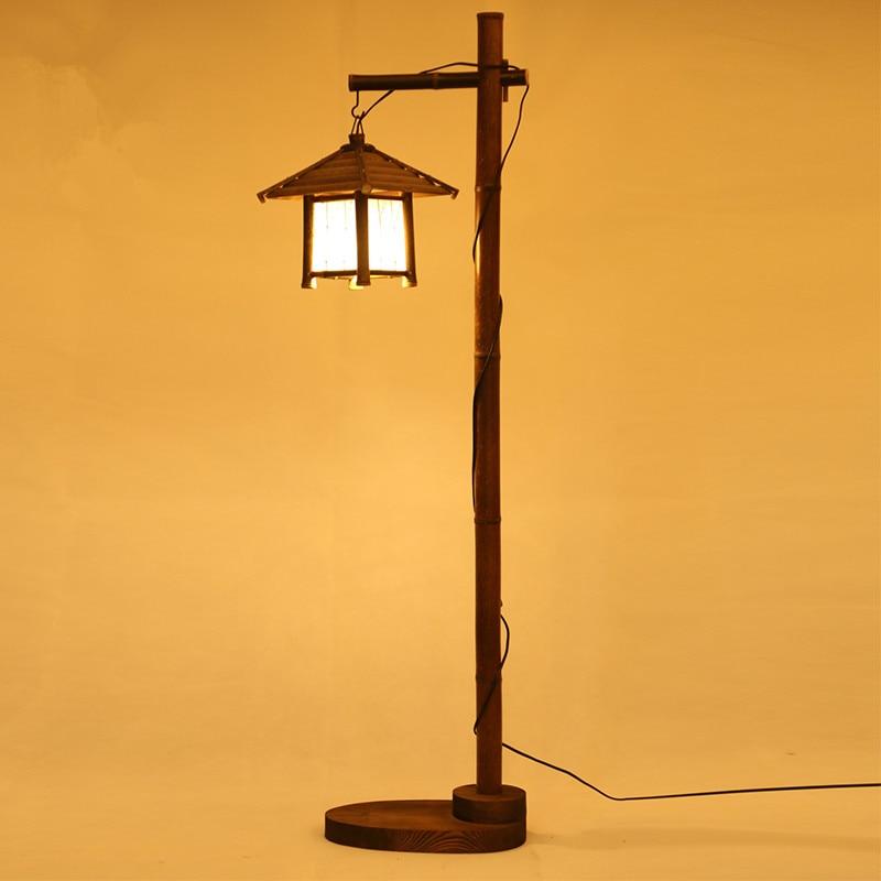 Aliexpress Com Buy Vintage Bamboo Floor Standing Lamp