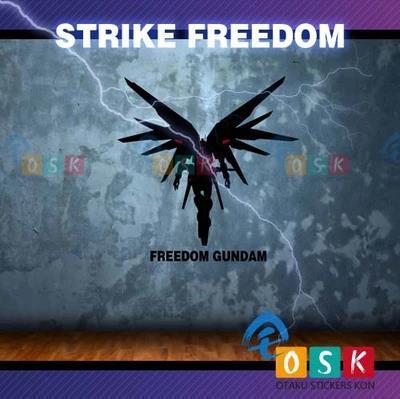 Pegatina Anime Cartoon Car Sticker SEED STRIKE FREEDOM ZGFM-X20A GUNDAM Vinyl Wall Stickers Decal Decor Home Decoration