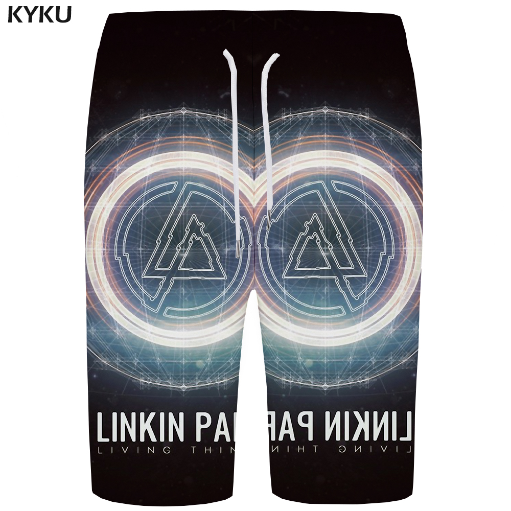 KYKU Linkin Park   Board     Shorts   Men Black Phantom   Short   Pants Graphics Space 3d Printed   Shorts   Earth Casual Mens   Shorts   Summer New