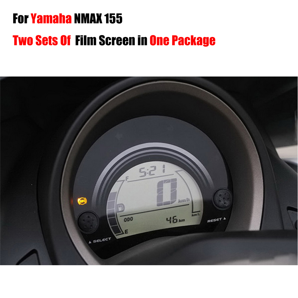 Two Sets Film Screens In One Parcel New Ultra-Clear Cluster Scratch TPU Film Screen Protector For <font><b>Yamaha</b></font> NMAX N MAX 155 <font><b>NMAX155</b></font> image