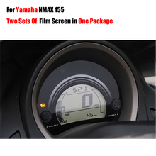 Two Sets Film Screens In One Parcel New Ultra Clear Cluster Scratch TPU Film Screen Protector For Yamaha NMAX N MAX 155 NMAX155