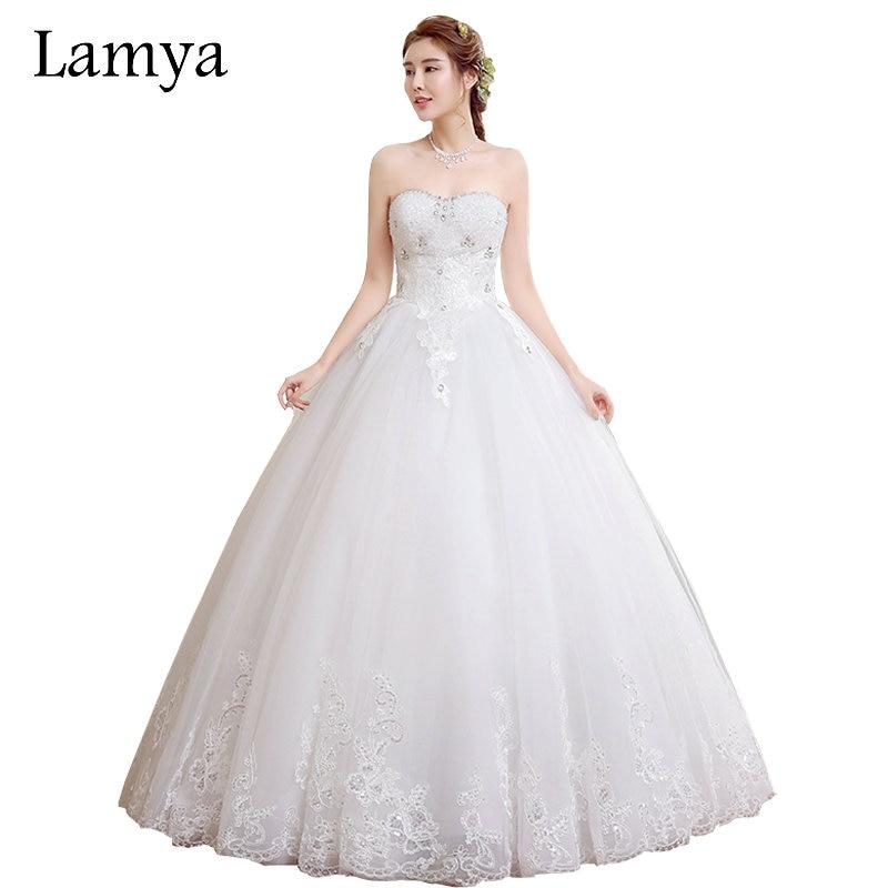 Menyasszonyi esküvői ruhák 2015 hosszú vonal kötést Elegáns - Esküvői ruhák