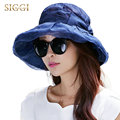 Womens Silk Bucket Outdoor Summer Sun Hat Fishing Beach Vacation Cap with Wide Brim Chin Strap Packable Cool UPF 50+