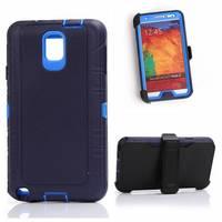 Hybrid Shockproof Zware Case voor Samsung Galaxy Note 3 Full Body Dekking Cover Met ingebouwde Screen Protector Riemclip