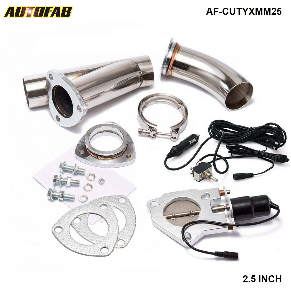 2 5 Electric Cutout E Cut Out Valve System W O Switch for Exhaust Catback Downpipe