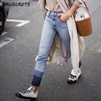 Spring 2018 fashion mom boyfriend jeans for woman ripped zipper vintage blue jeans women denim pants streetwear