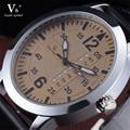 2016 V6 Marca de Moda Casual Do Esporte dos homens Relógios Dos Homens Relógio de Quartzo de Couro À Prova D' Água Homem Relógio Militar Relogio masculino