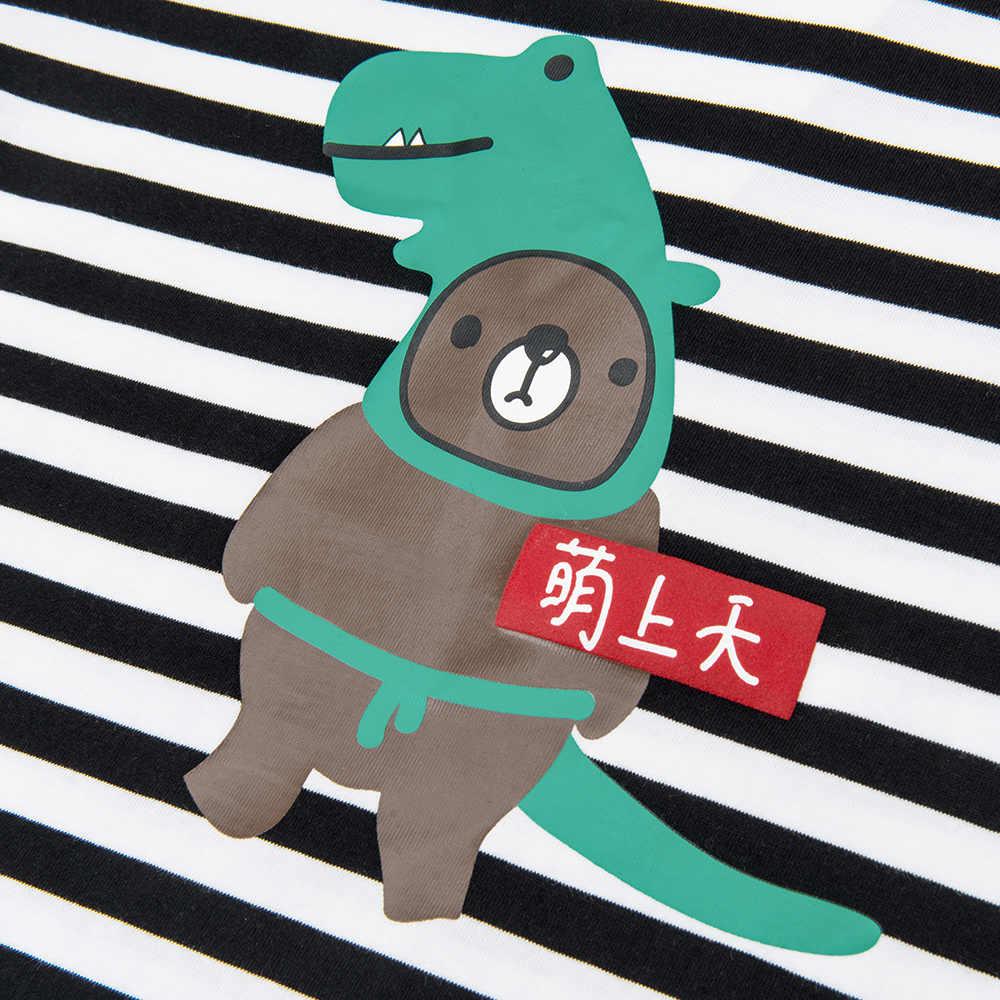 BalabalaChildren ללבוש קצר שרוול חולצת טי כותנה תינוק חצי שרוול 2019 חדש קיץ ללבוש ילדי פסי t חולצה למעלה & tees