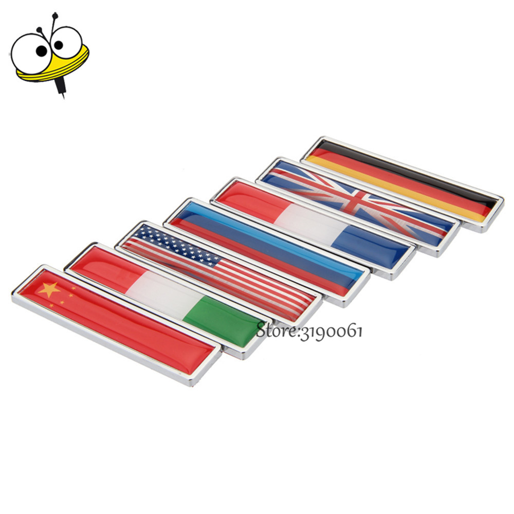 Car Styling Auto Stickers Emblem Badge Decal For Flag Logo For Honda Audi Ford VW Golf Clio Octavia Toyota Hyundai KIA Peugeot