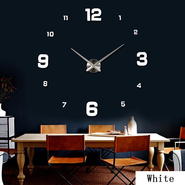 2016 Sale New Wall Clock Clocks Watch Stickers Diy 3d Acrylic Mirror Home Decoration Quartz Balcony/courtyard Needle europe hot