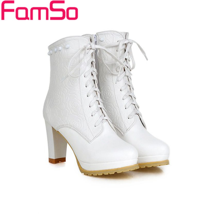 Plus Size34 43 2016 new Sexy font b Women b font Rivets Shoes High Thick Heels