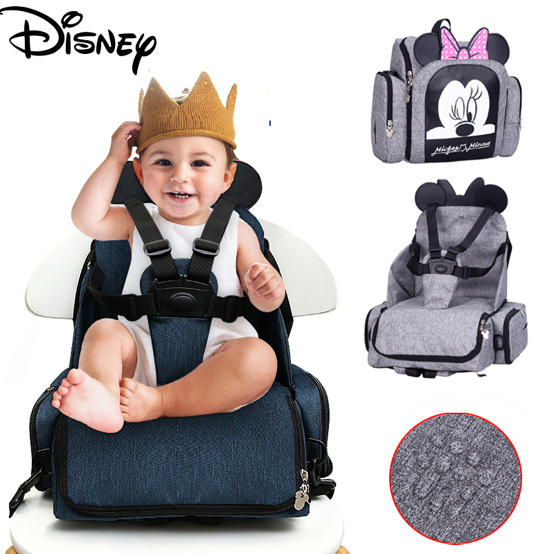 2019 Baby Diaper Bag Booster Seat Waterproof Maternity Travel Backpack Nappy Bag Mini Mickey Mouse Design