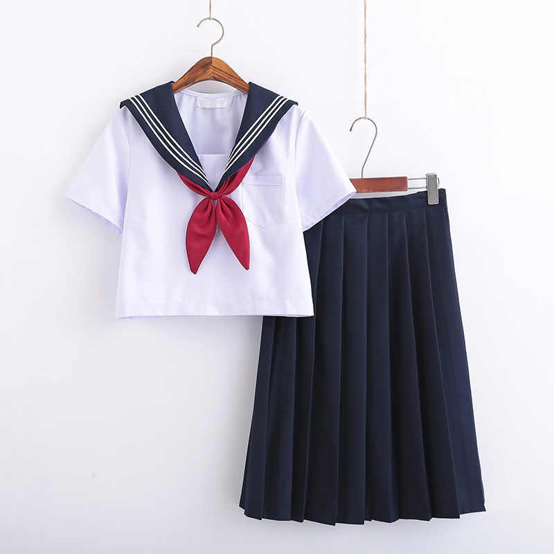 日本の学校ソフト女の子 JK 制服セーラースーツ女性学術スタイルコスプレ衣装ブラウスプリーツスカートスーツ B65294AD