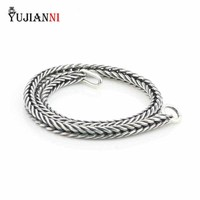 Authentic 925 Sterling Silver Bracelet Women Fox Tail Bracelet Or Necklace Chain Fit Eurpeon Brand Charms