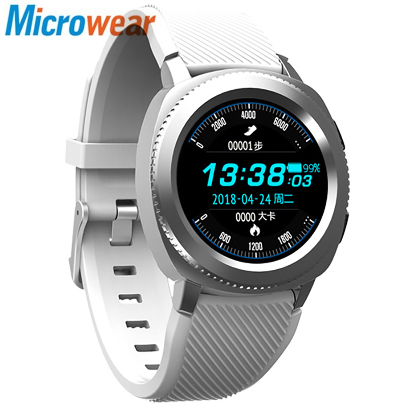 Microwear L2 Sports Smart Watch 1.3 inch MTK2502 32MB RAM 32MB ROM Heart Rate / Sleep Monitor / Pedometer / IP68 Water-resistant smart watch mtk2502 ip68 microwear l2 waterproof bluetooth calling heart rate sleep monitor sports watch