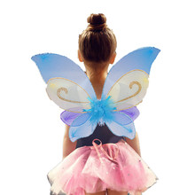 Beautiful NEW Elf Fairy Wing Butterfly Wings Girls Angel Wings Birthday Party Stage Show Favor Wing Costume Cosplay Toy(China)