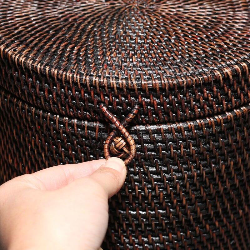 High Quality Hand Made Natural Rattan Pu-Erh Tea Box 3