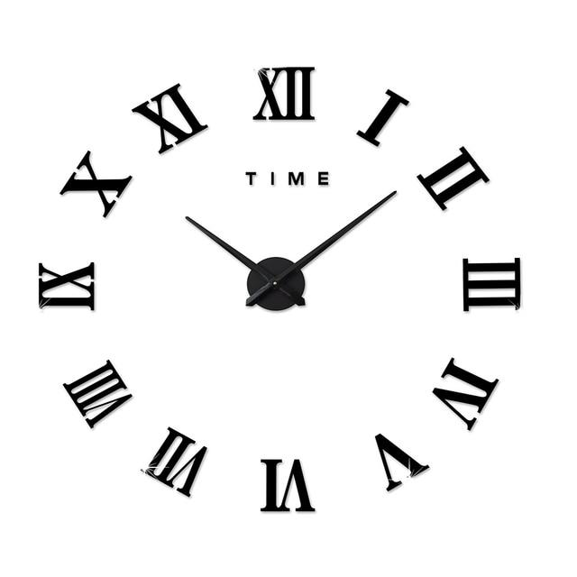 3 Colors Classic Black Golden White Brief Modern Diy Wall Clock - 3-roman-numerals-clocks