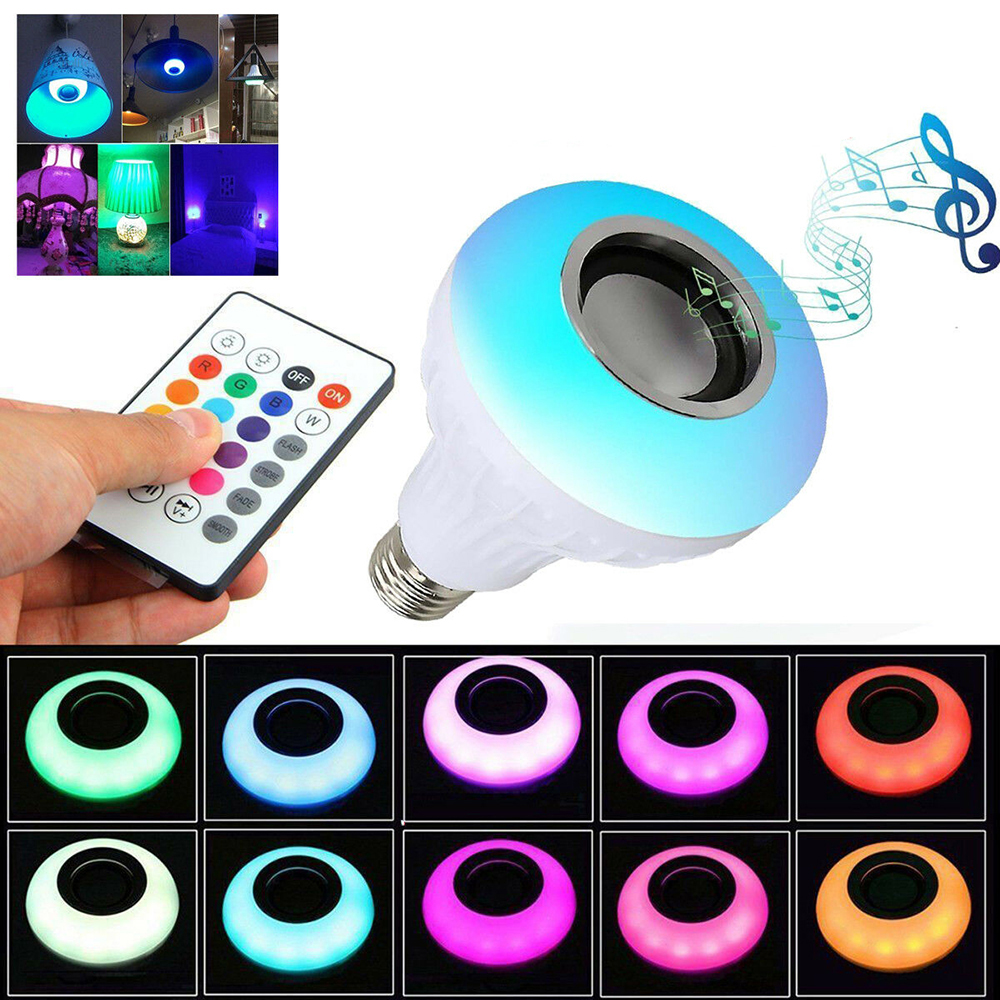2019 Smart WiFi Bulb 12W RGB Magic Bulb Light Wake Up Light Compatible With Alexa And Google Assistant Music Bulb Stage Light