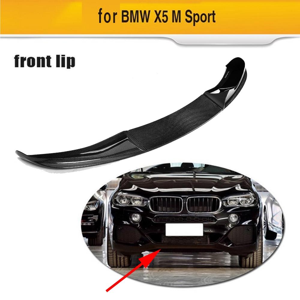 MP Style 3PCS Carbon Fiber Front Spoiler Bumper Lip Protector Chin Apron for BMW X5 M SPORT 2014 2018
