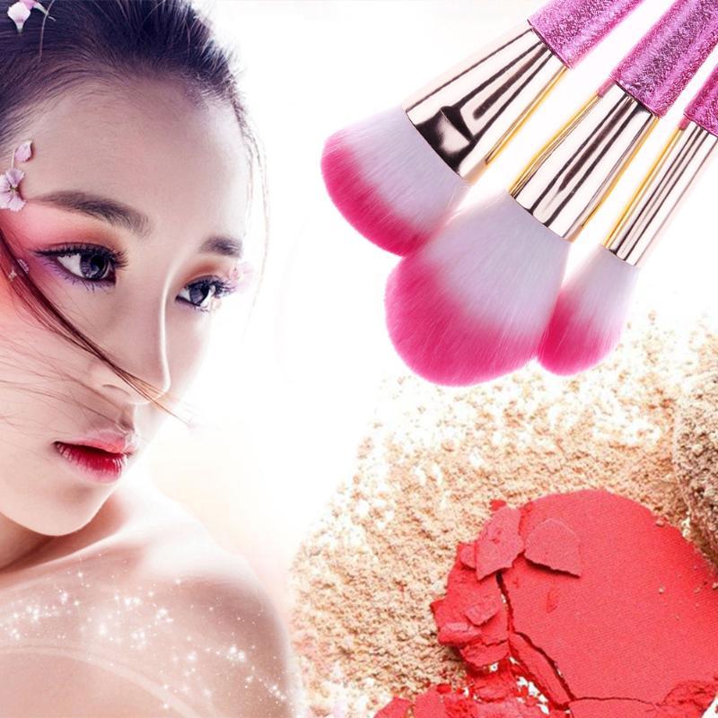 10Pcs/set Makeup Brushes Tools Kit Power Foundation Blush Eye Shadow Blending Fan Cosmetic Beauty Make Up Cosmetic Gadget