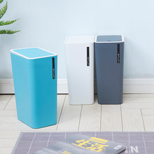 1 Pcs Creative Press Type Trash Can Bathroom Kitchen Living Room Office Garbage Dust Bin Storage Bucket Storage Box Waste Can цена и фото