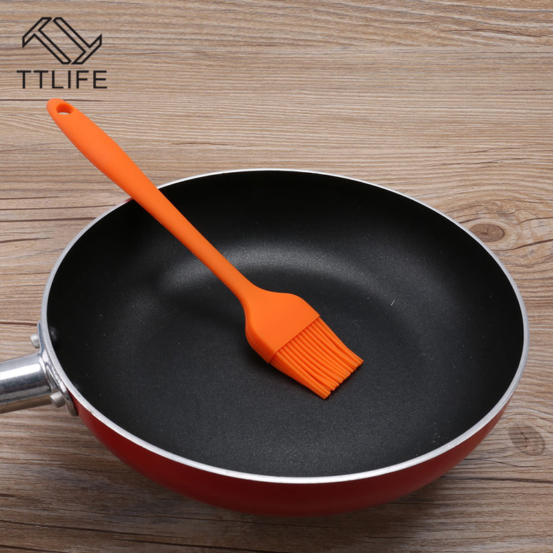 TTLIFE Hot Selling Silicone Brush One-piece Brush Heat Resistance Non-stick Easily Cleaned Barbecue Brushes Baking Tools