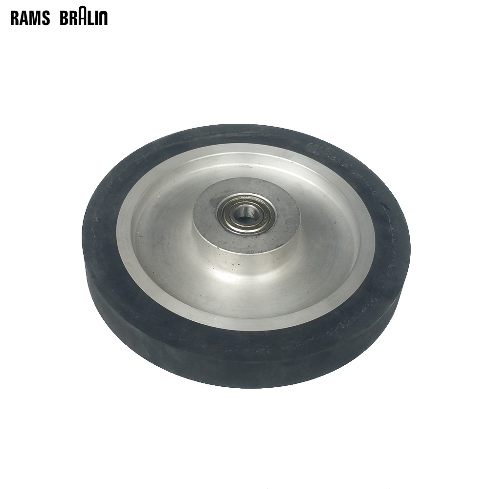 200*25mm Solid Rubber Contact Wheel Abrasive Belts Kit Grinding Machine Part lathe 25mm thickness 120mm x 25mm abrasive flap disc wheel