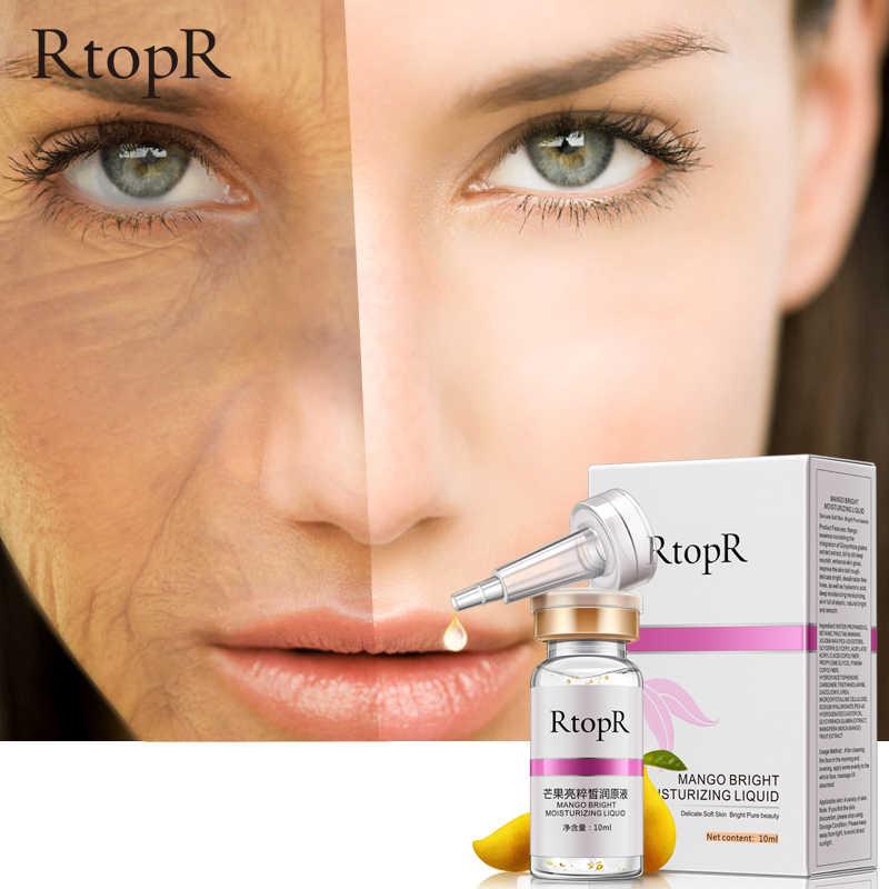 Осветление кожи лица против морщин, увлажняющий манго сыворотка уход за кожей против старения жидкое лечение акне для удаления темных пятен сыворотки
