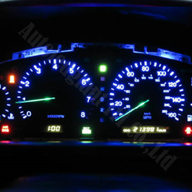 WLJH 7Colors T5 led Car Light 85 73 286 74 37 Wedge Lamp Dashboard Instrument Gauge Dash Light Bulb For 1980 - 2000 Honda Civic
