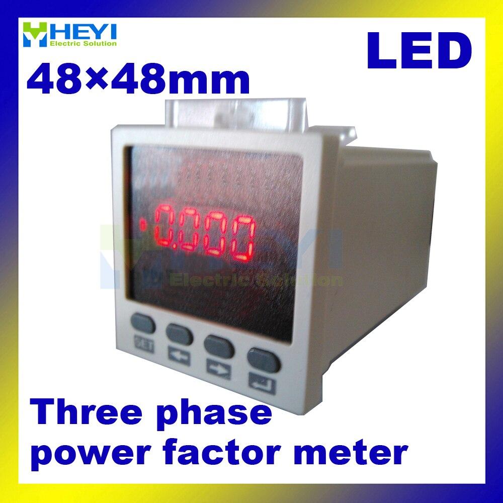 ФОТО 48*48 mm LED power factor indicator Three phase digital power factor meter COS meter