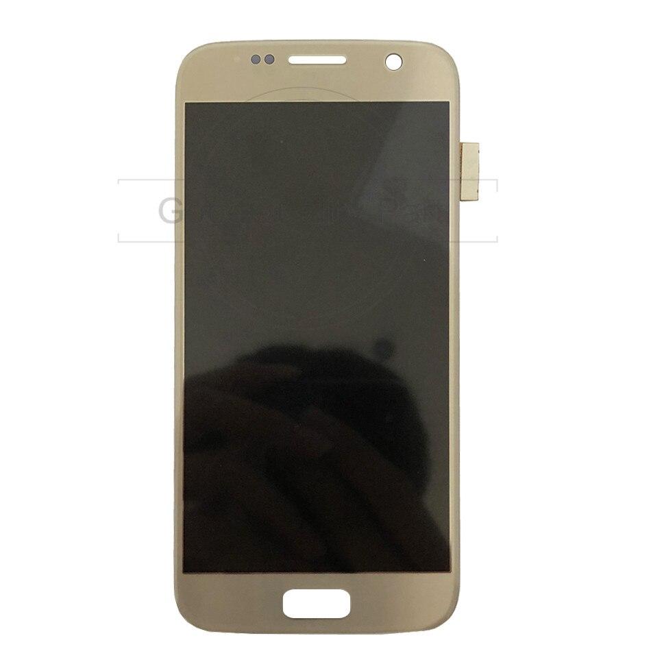 5.1 ''AMOLED remplacement LCD pour SAMSUNG Galaxy S7 affichage G930 G930A G930F SM-G930F numériseur d'écran tactile avec assemblage de cadre - 3