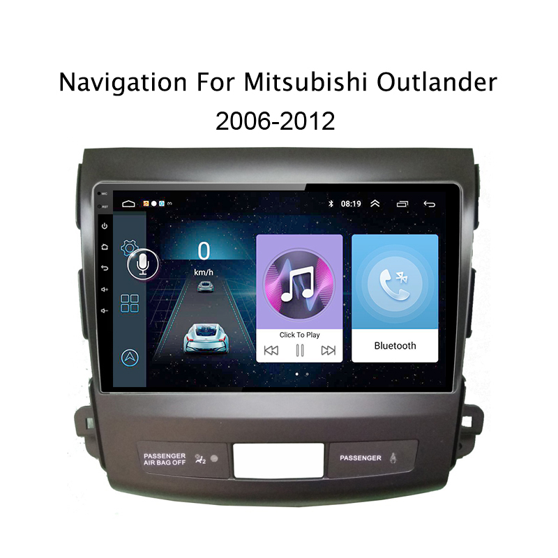 9 inch Android 8.1 car multimedia For Mitsubishi Outlander 2006-2013 Quad Core Auto Radio Multimedia FM Car dvd GPS Player Navi funrover 9 2 din android 8 0 car radio multimedia dvd player gps for great wall haval h3 h5 2010 2013 glonass wifi fm quad core