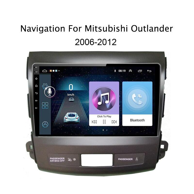 9 pouce Android 8.1 multimédia de voiture Pour Mitsubishi Outlander 2006-2013 Quad Core Auto Radio Multimédia FM De Voiture dvd GPS Lecteur Navi