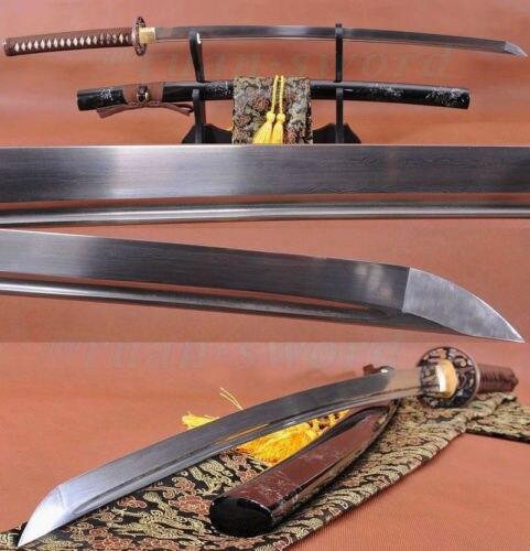 Ručně vyráběný japonský samurajský funkční meč KATANA skládací ocelová čepel může řezat Tre