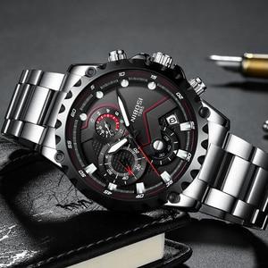 Image 2 - NIBOSI hommes montre grand cadran cadran sport montres hommes mode armée montre hommes militaire horloge Quartz montre bracelet Relogio Masculino