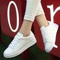 2016 Новый Стиль Белый женская Обувь Повседневная Обувь Одного Дышащие Квартиры Обувь Женщина Мода Низкая Топ Damen Ботинки Женщин кроссовки