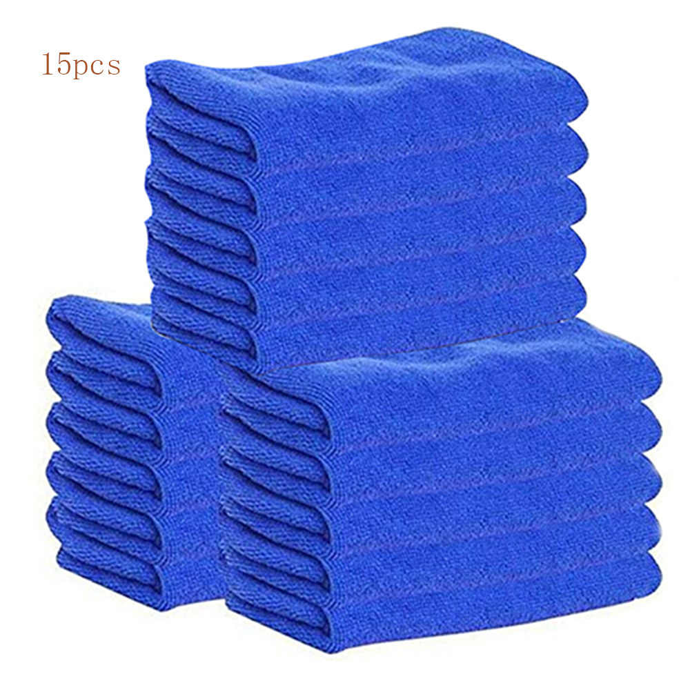 15pcs  Water Absorption Waffles Microfiber Cleaning Cloths Set Dish Towels Kitchen Scouring Pad Glass Washing Drying Mats