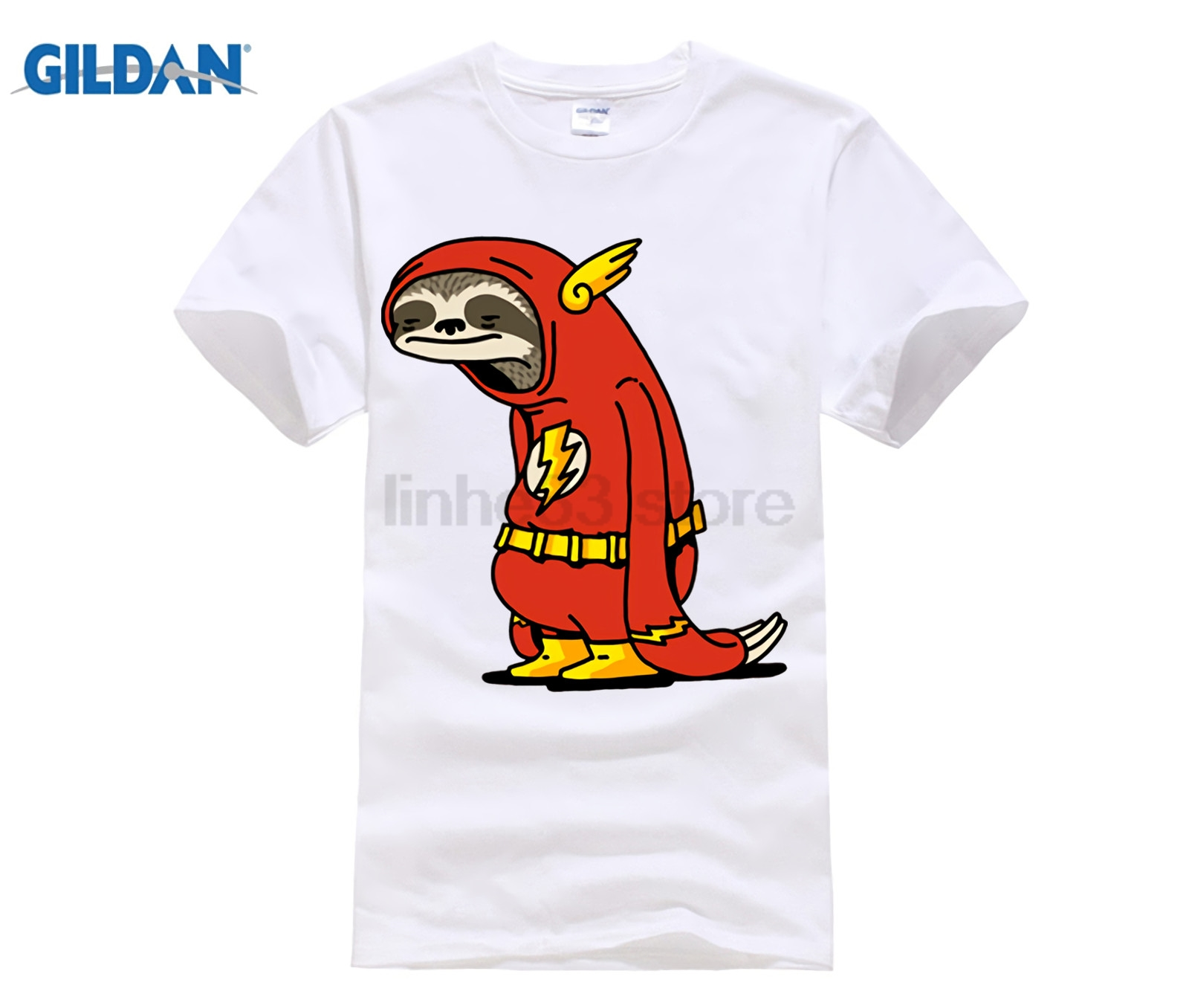 c0a79b2ba Funny Sloth The Flash T shirts men The Neutral T shirt male super hero Red  Sloth tshirt harajuku Tops 100% cotton Tees camisetas-in T-Shirts from Men's  ...