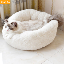 Petshy Cute Small Pet Cat Nest House Kitten Puppy Fall Winter Warm Soft Plush Sleep Cave Bed Dog Sleeping Bag Kennel Cushion