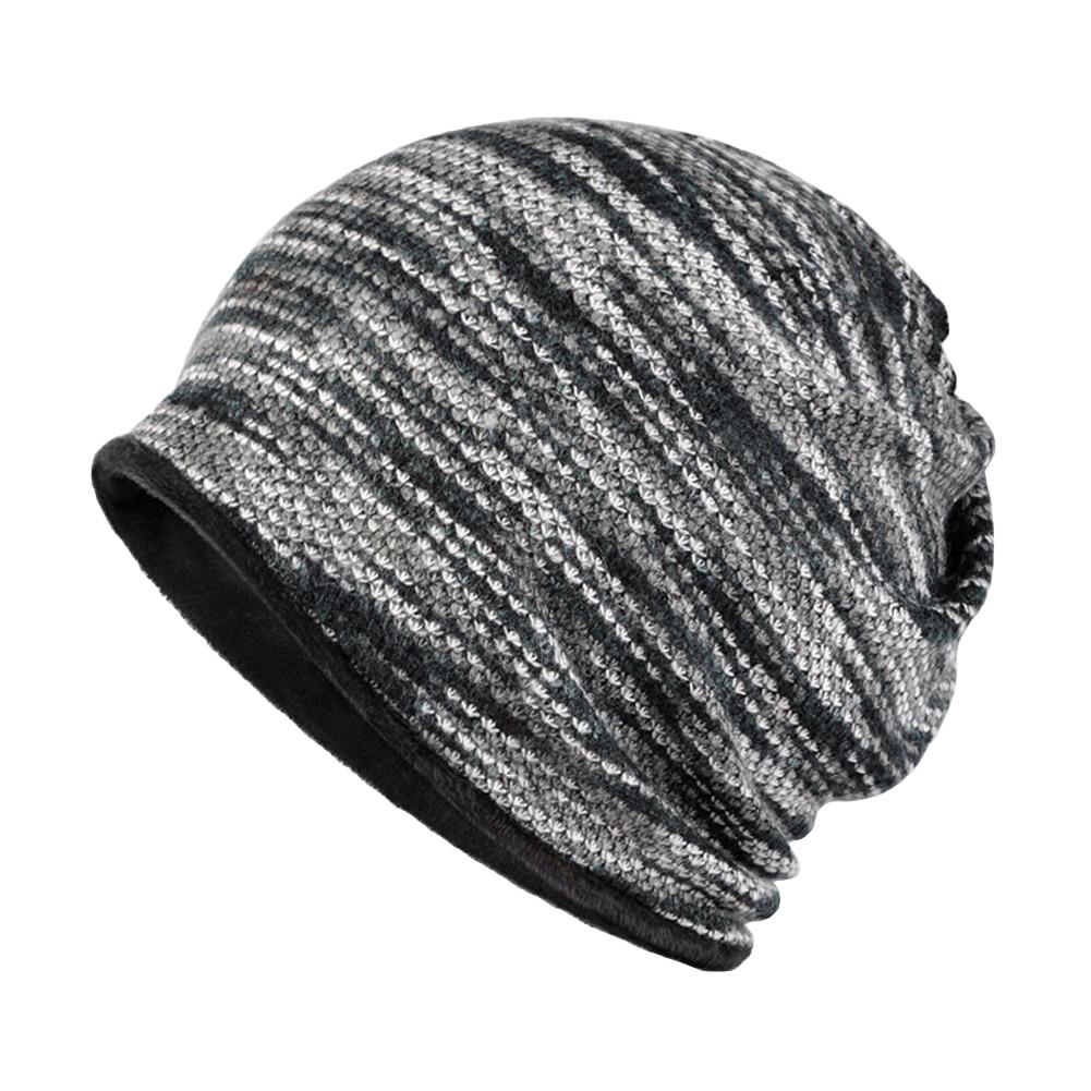Women Men Fashion Winter Beanies Collar Scarf Hip Hop Hats with Velvet Inside