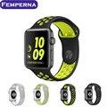 Nova pulseira de silicone pulseira de relógio ambiental para apple watch banda nike 42mm 38mm substituição cinta iwatch